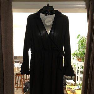 Beautiful BooHoo Black Wrap Dress